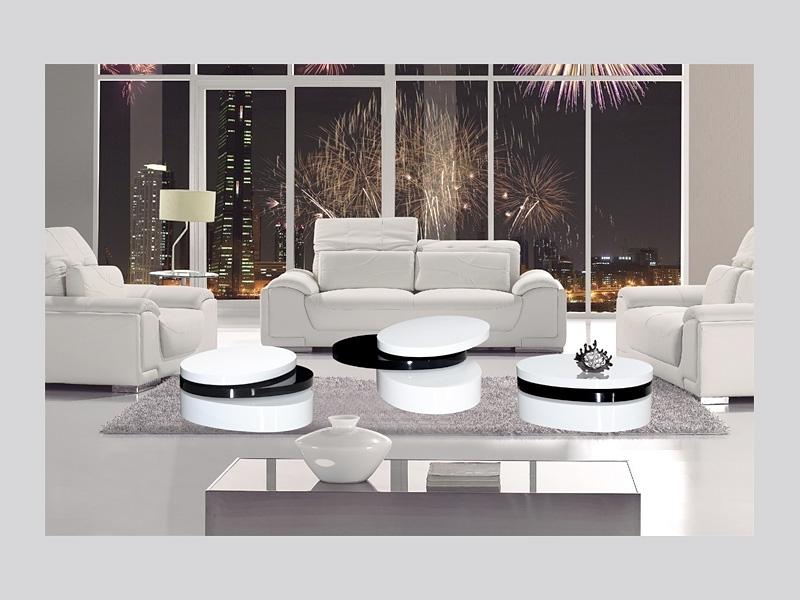 mayfair black / white high gloss coffee table - homegenies