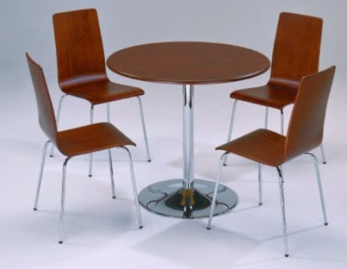 Small Round Wooden Dining Table And 4 Chairs Homegenies