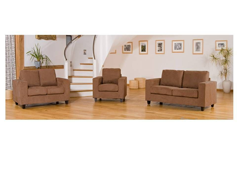 Attirant Faux Suede Sofa 1, 2 And 3 Seater Suites Set ...