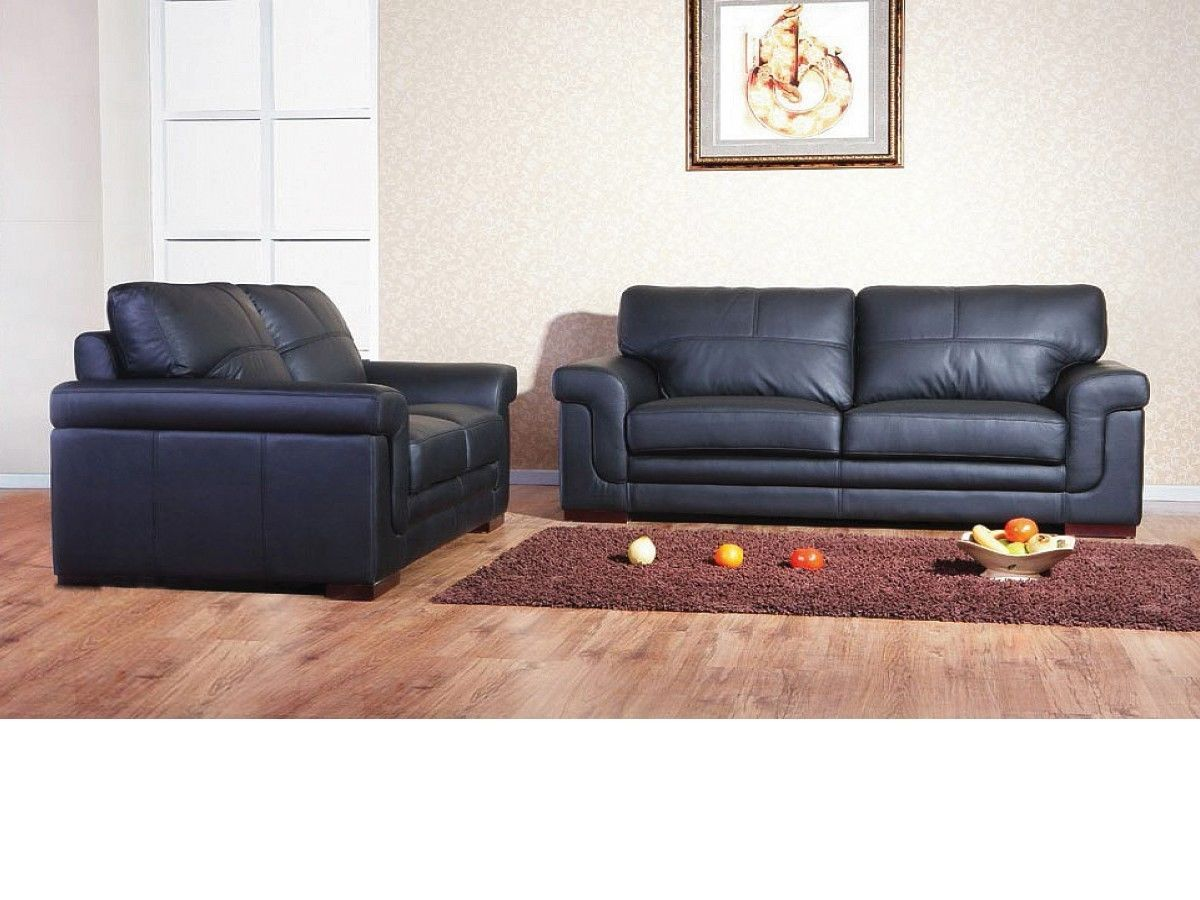 Leather 3 2 1 Seater Sofa Suite Mix Cream Black Brown