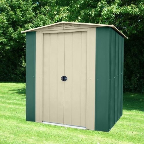 Metal shed base 6x4ft homemade wooden bench plans build for Used metal garden sheds for sale
