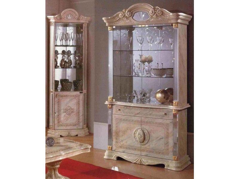 Beige italian furniture sets high gloss dining table and for Italian high gloss furniture