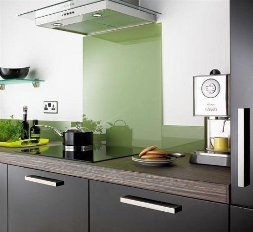 Sage Green Kitchen: Sage Green Glass Splashback