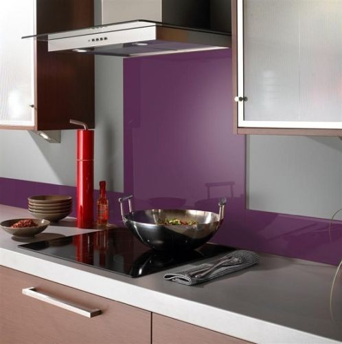 Purple Glass Splashback Homegenies