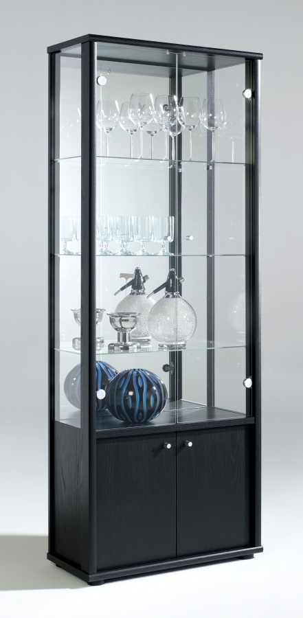 Glass dining room display cabinet homegenies for Dining room display cabinets