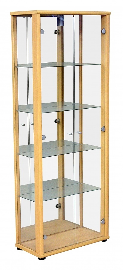 Beech Glass Dining Room Display Cabinet - Homegenies