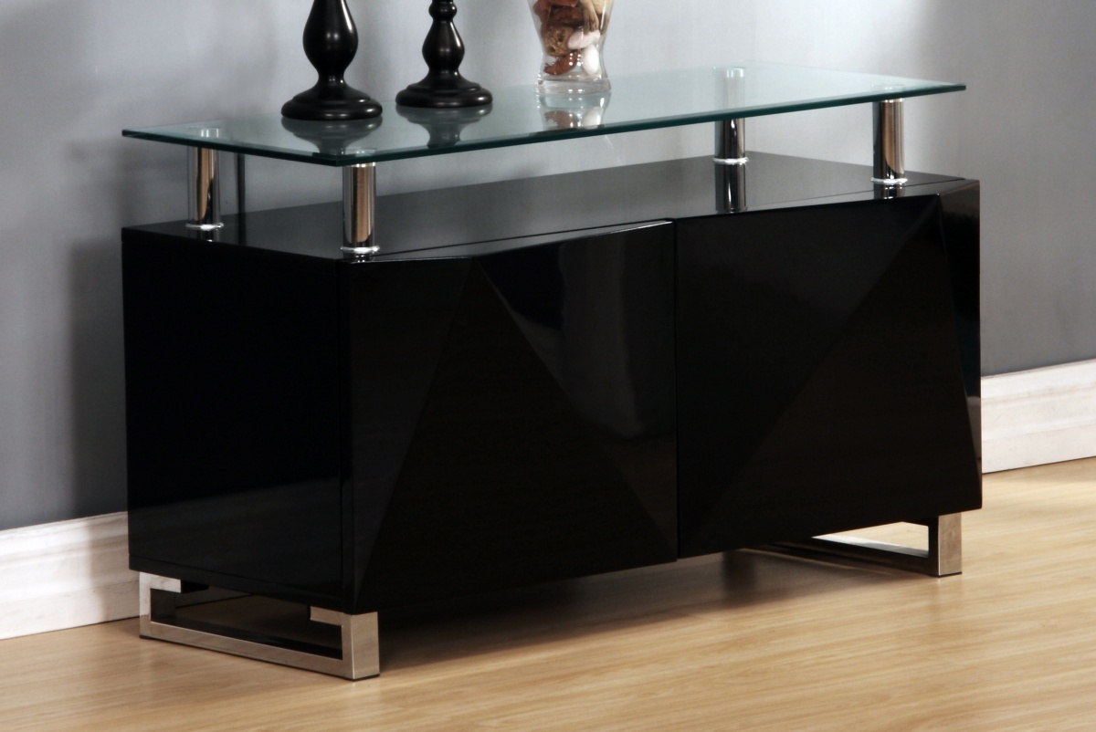 Black High Gloss Sideboard Homegenies
