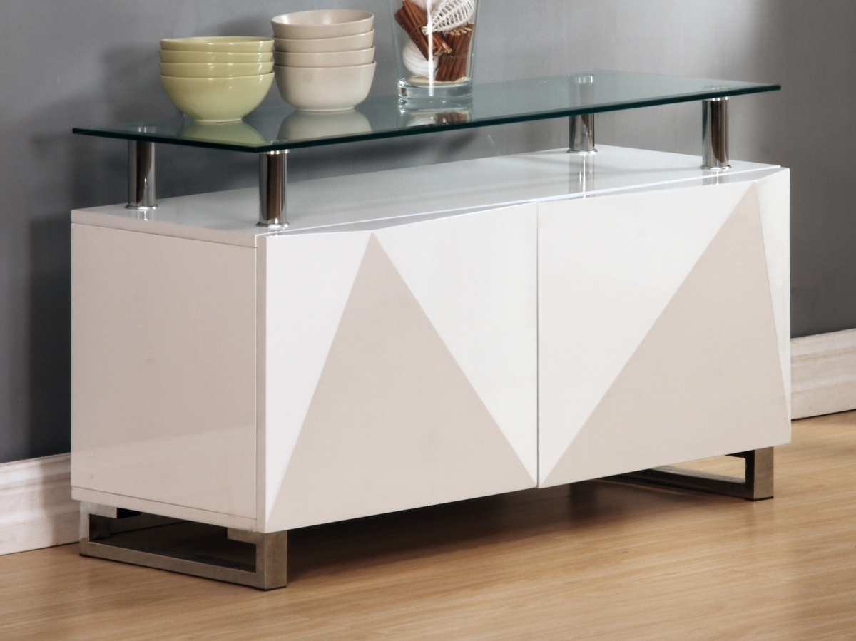 White High Gloss Sideboard Homegenies