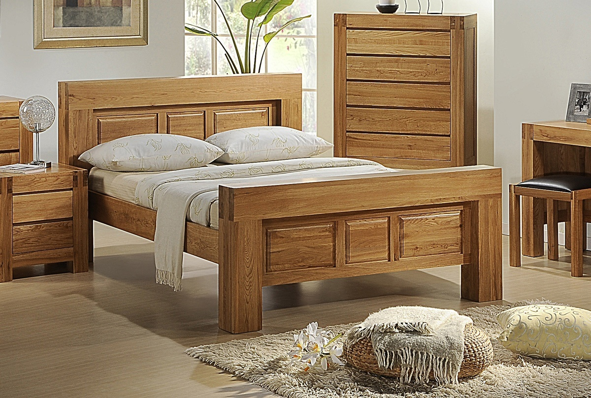 soild oak with veneer bedroom furniture package set