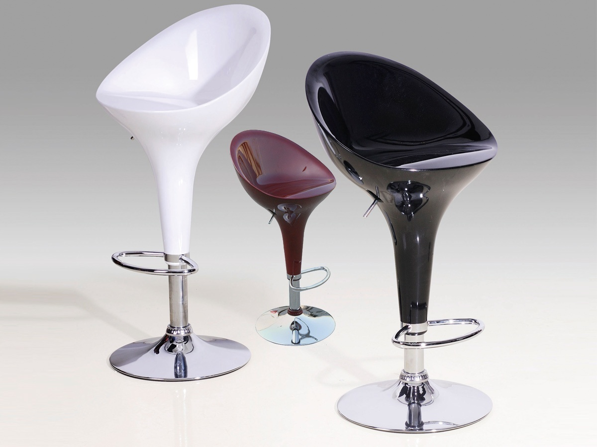 Breakfast Kitchen High Gloss Bar Stools X2 Homegenies