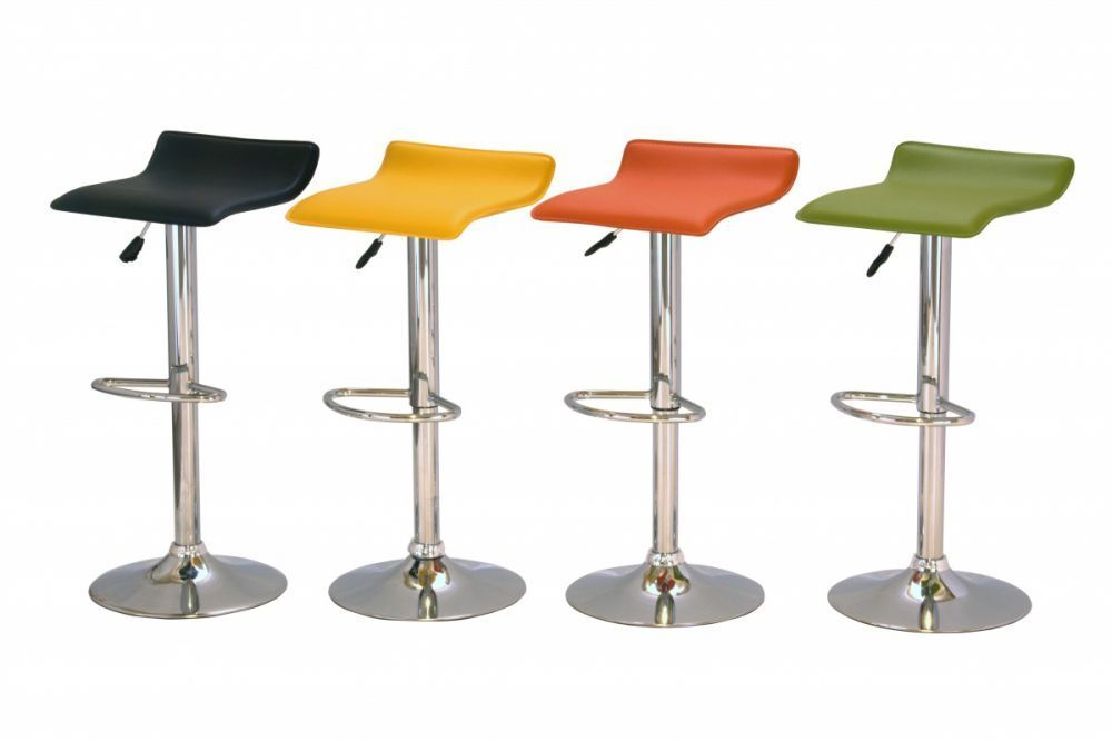 Black green orange yellow kitchen bar stools homegenies for Kitchen and bar stools