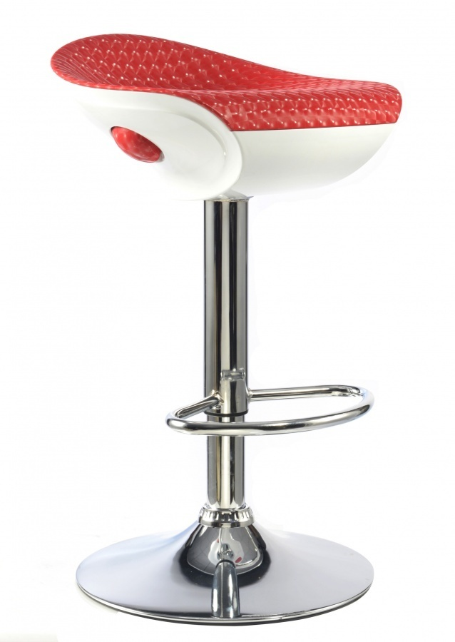 Pair of white high gloss breakfast bar stools homegenies for White breakfast bar stools