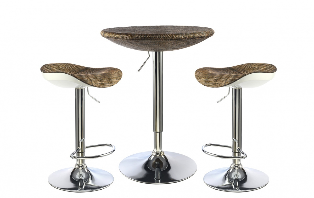 Breakfast bar table and stools set homegenies for Bar stool table