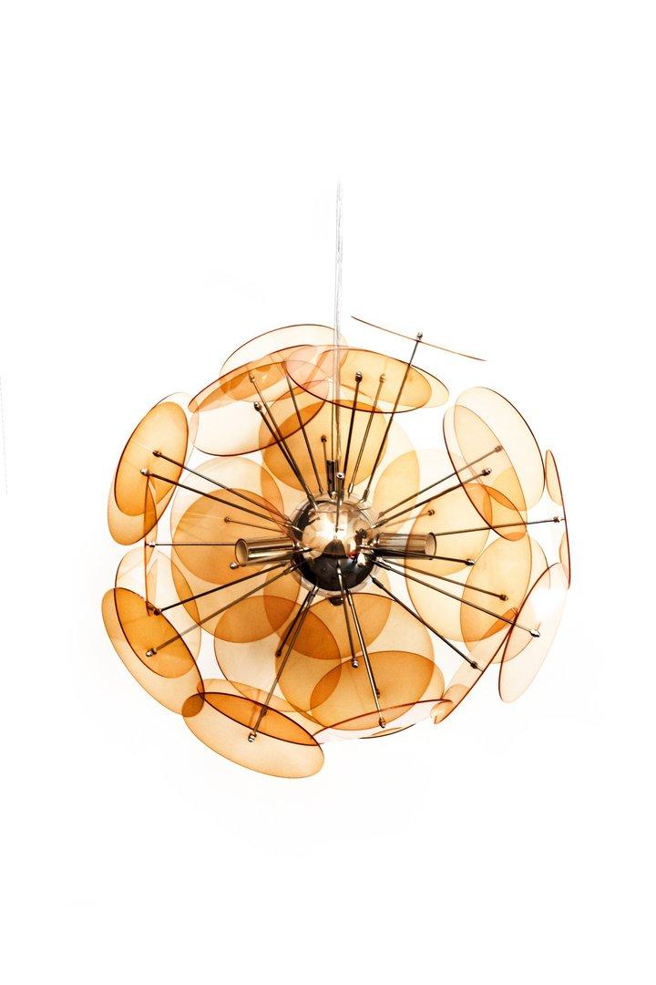 Orange Ceiling Pendant Light Lamp Homegenies