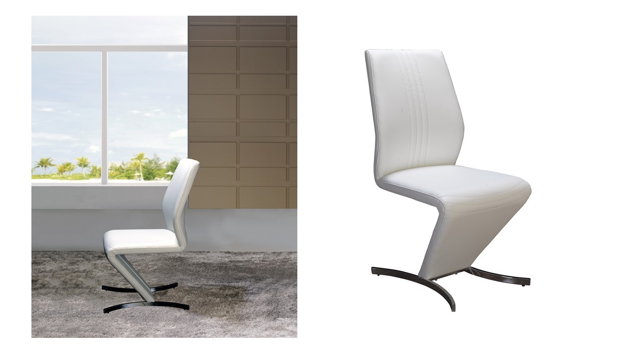 White Z Dining Chairs - Homegenies