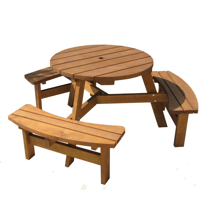 Wooden Bench Table Sets 6 Seater Wooden Picnic Bench Table