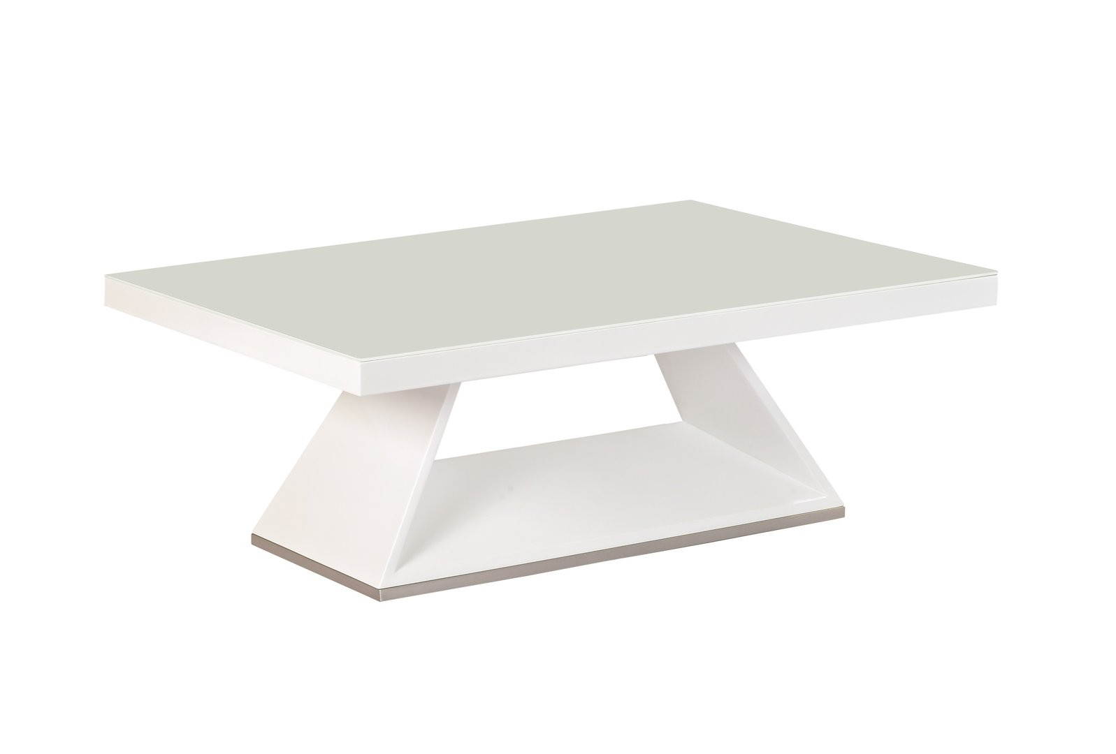 White High Gloss White Glass Coffee Table Ebay
