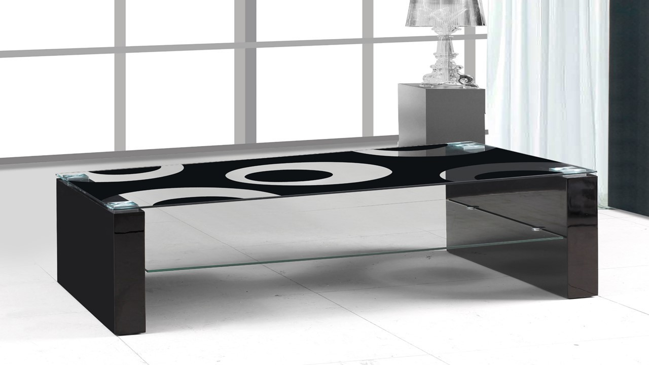 Black glass black high gloss coffee table homegenies Black coffee table with glass