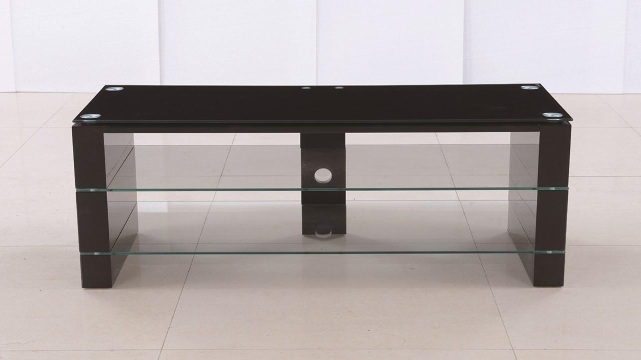 Black Glass High Gloss Tv Stand Unit