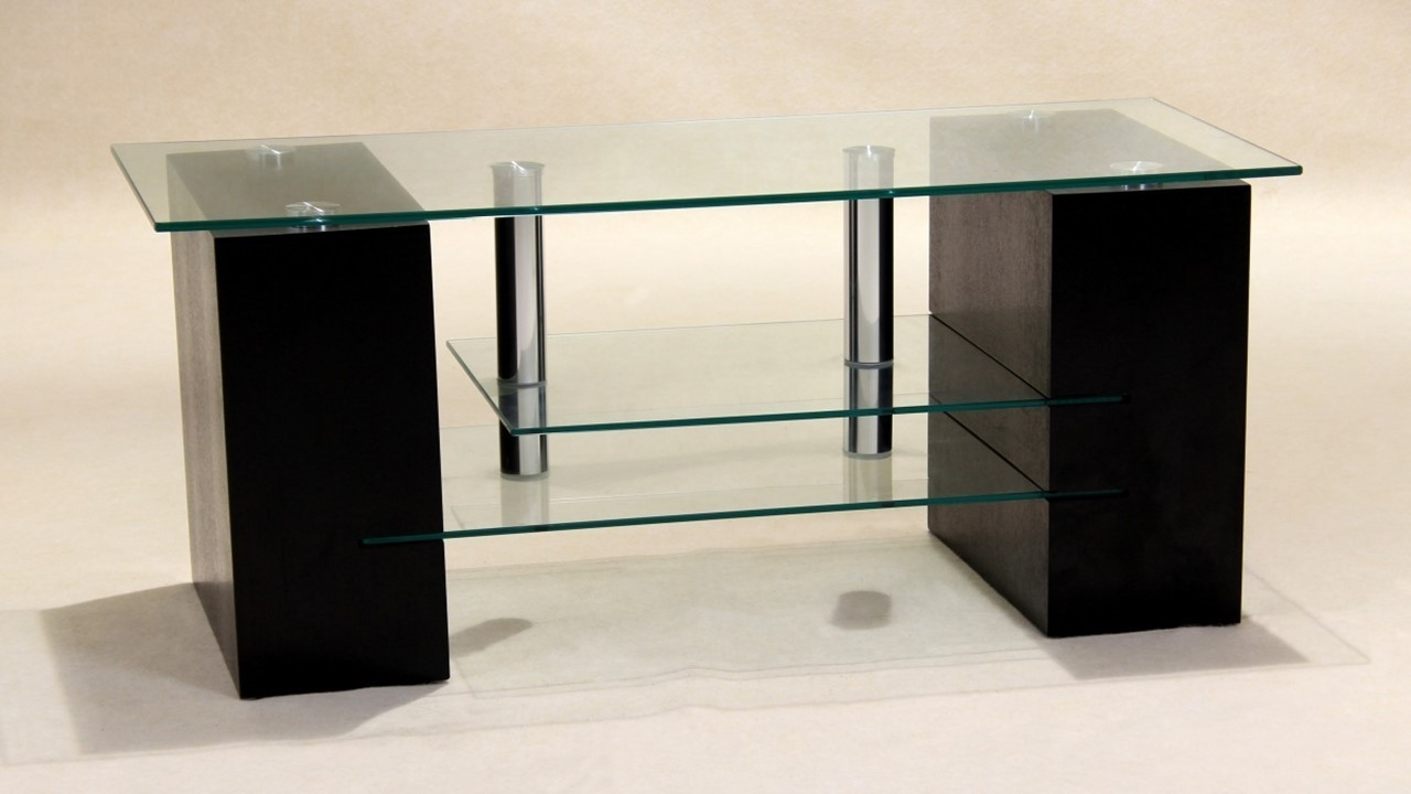 Clear glass tv unit homegenies for Affordable furniture brandon