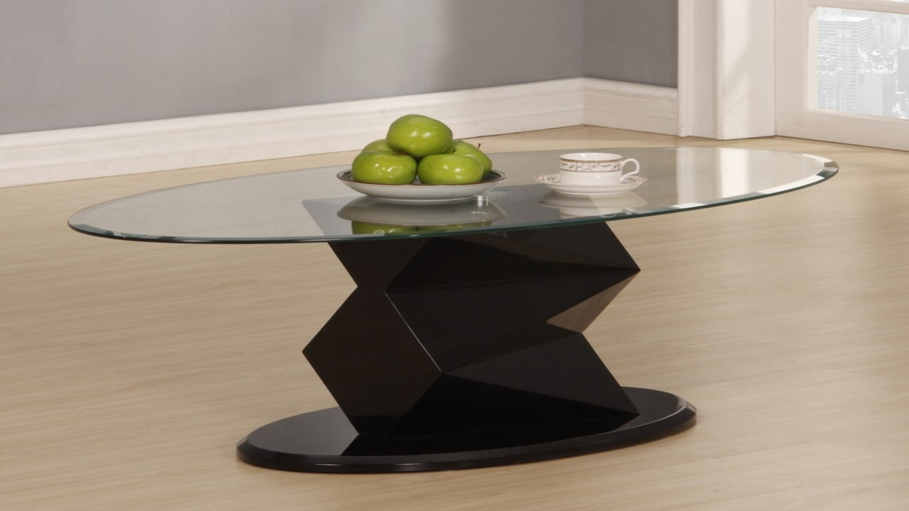 Black High Gloss Glass Side Lamp Table Homegenies