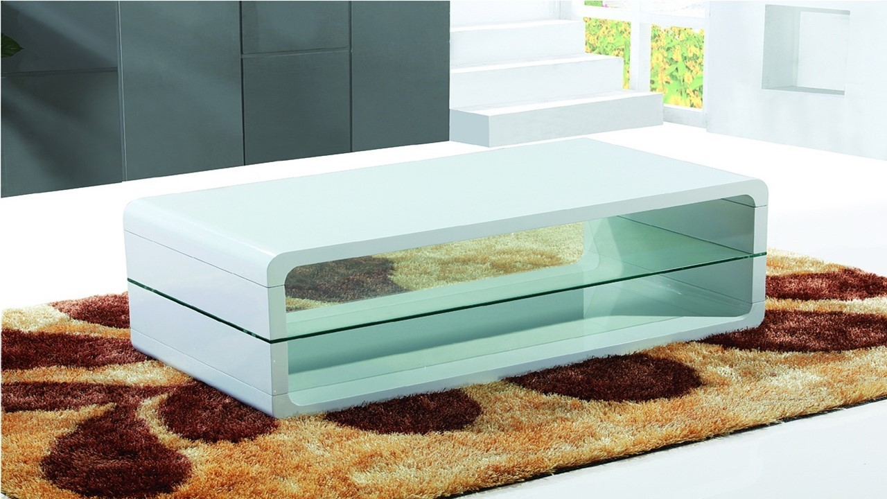 Coffee Table In White High Gloss Homegenies