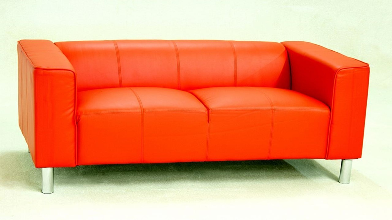 Two Seater Faux Leather Sofa Homegenies