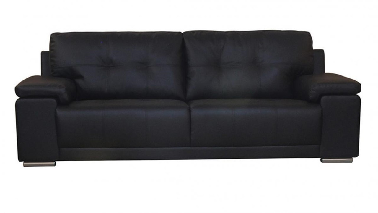 black leather sofa 3 2 1. Black Bedroom Furniture Sets. Home Design Ideas