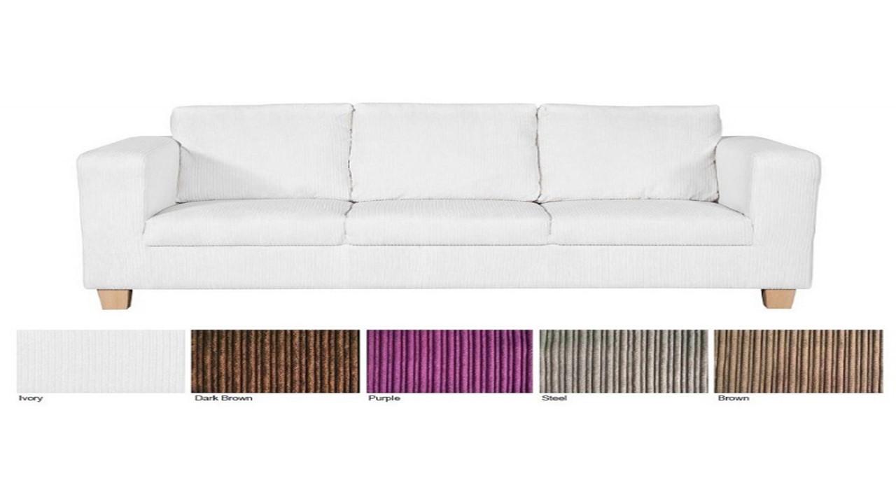 sofa 3 2 1 seater cord fabric homegenies. Black Bedroom Furniture Sets. Home Design Ideas
