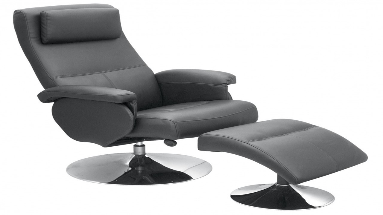 Black Faux Leather Chair: Black Faux Leather Recliner Chair