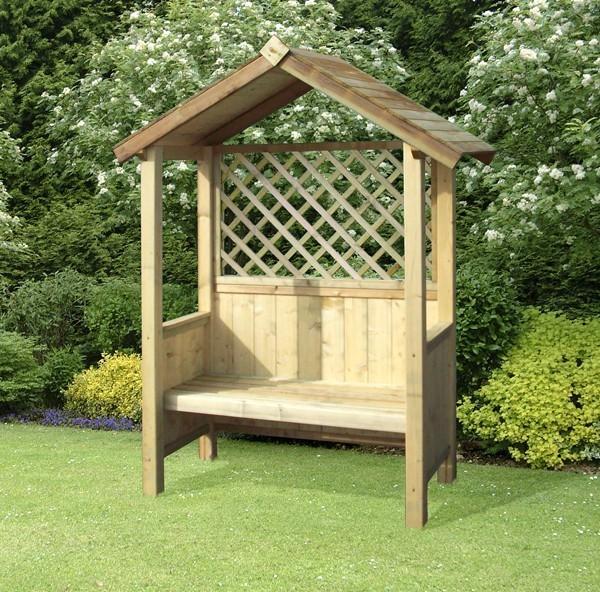 Wooden Garden Arbour Bench Homegenies