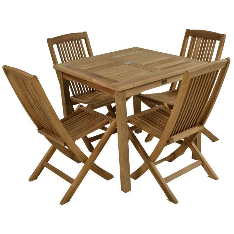 Teak 4 Seater Garden Table And Chair Set Homegenies