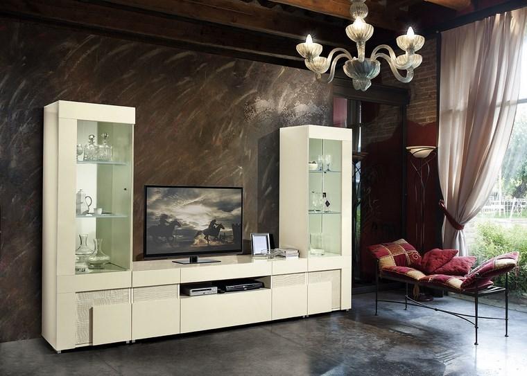 Italian beige high gloss dining room furniture set for Italian high gloss furniture