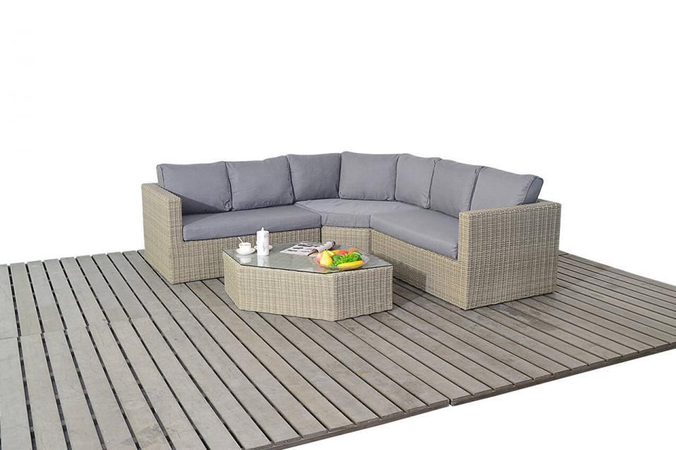 Rural Angle Rattan Corner Sofa Set Homegenies