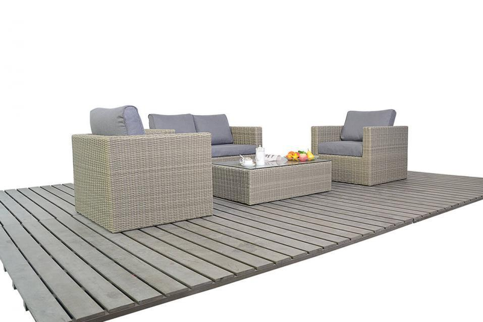 Rural Small Rattan Sofa Set Homegenies