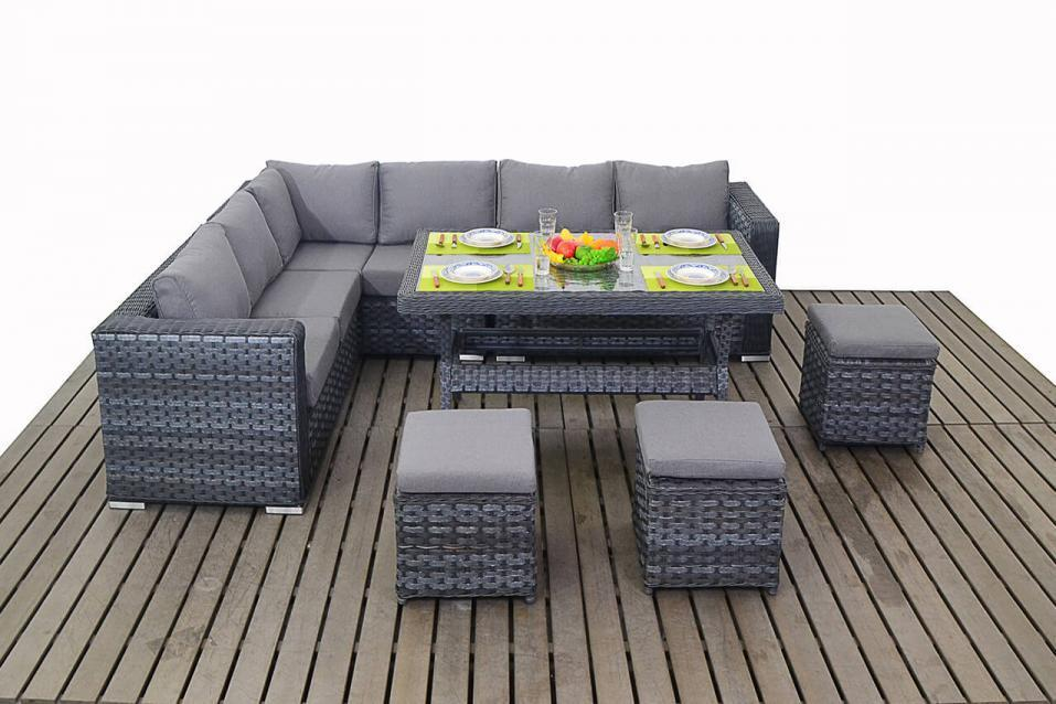 Grey Rattan Corner Sofa with Dining table set Homegenies : Greyrattancornersofawithdiningtableset from www.homegenies.co.uk size 957 x 638 jpeg 83kB