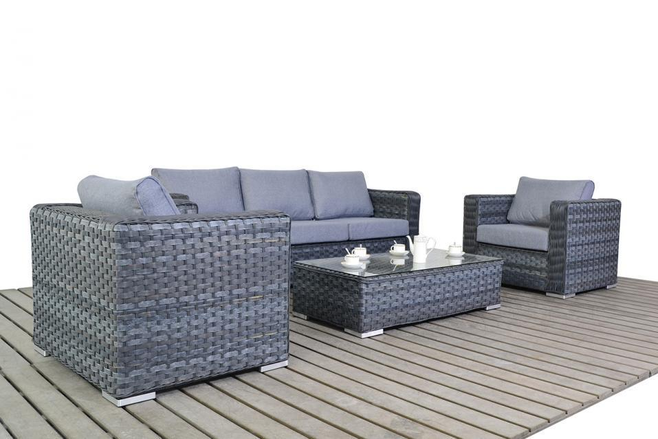 platinum large rattan sofa set with armchairs homegenies. Black Bedroom Furniture Sets. Home Design Ideas