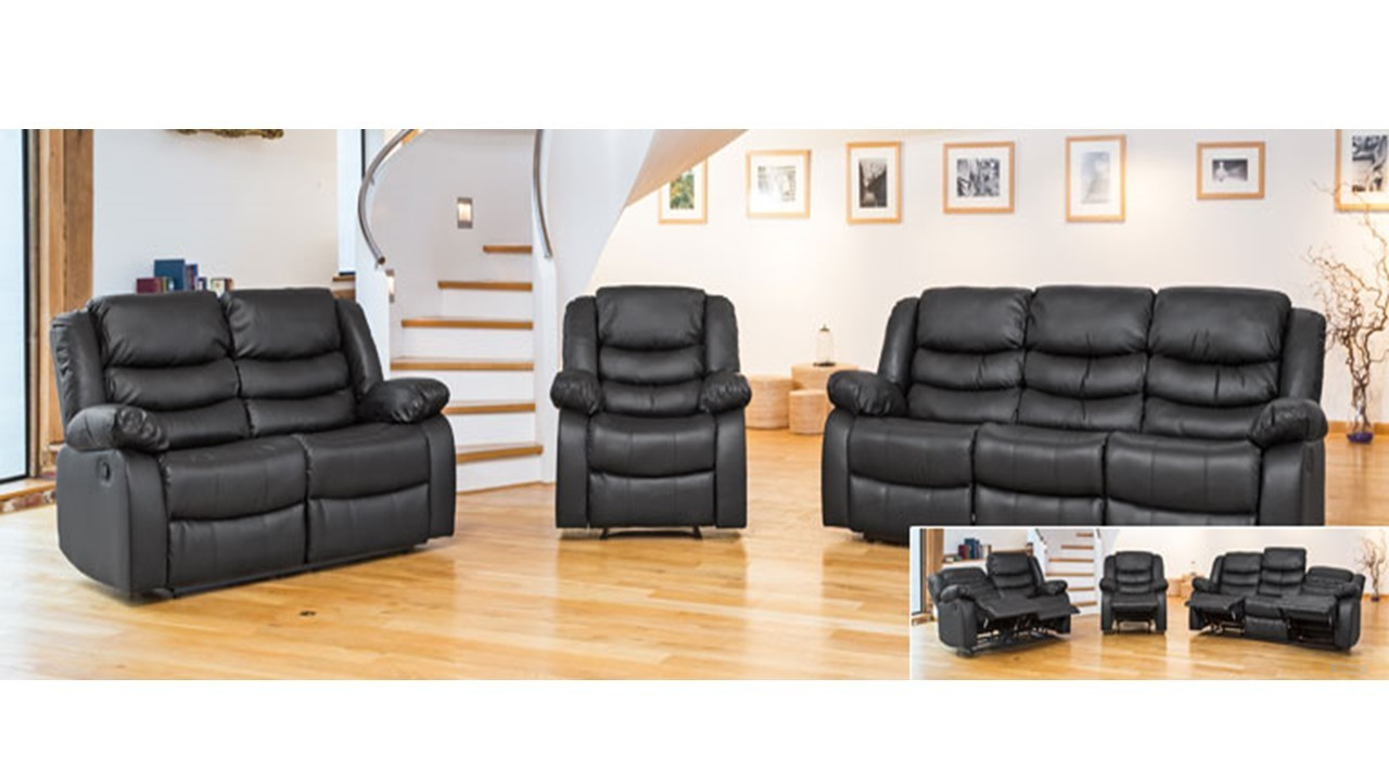 Leather Sofa Recliner 1 Armchair, 2 Seater Sofa, 3 Seater Sofa