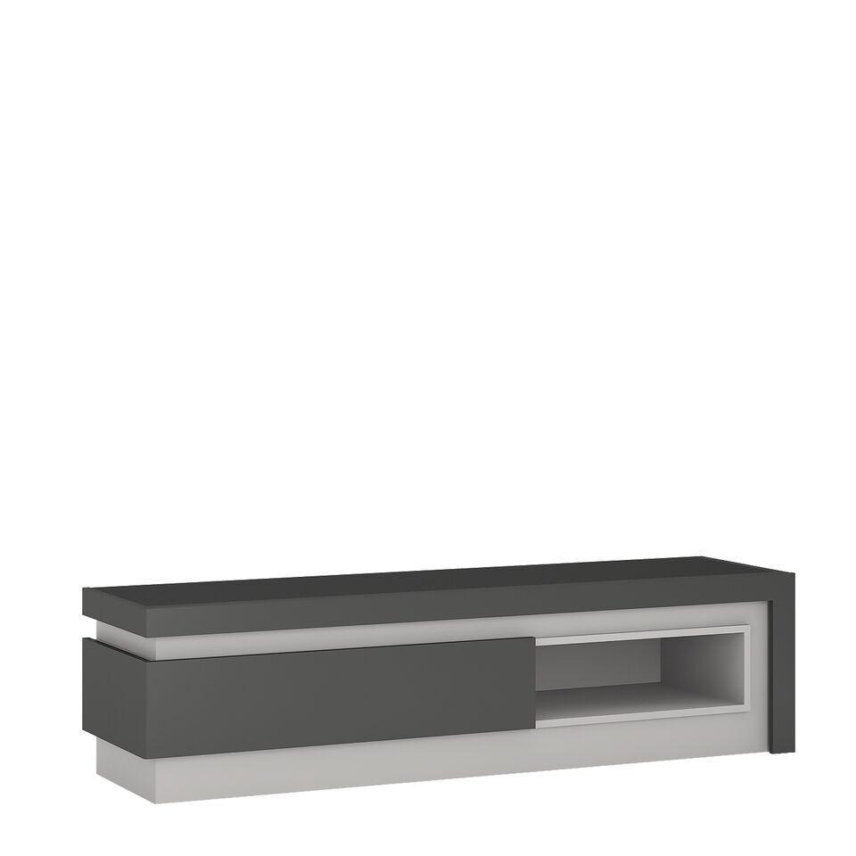 Grey High Gloss Coffee Table Uk: Grey High Gloss 1 Drawers Tv Cabinet