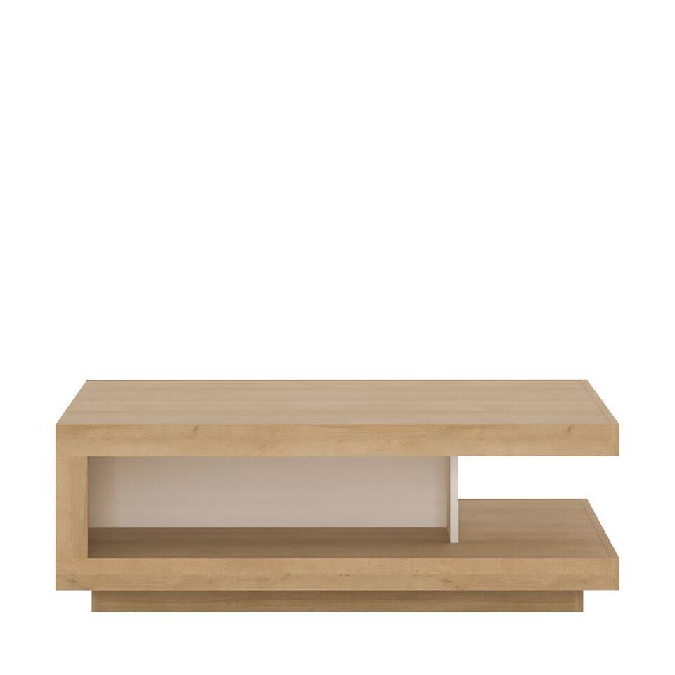 Brilliant White High Gloss With Oak Finish Coffee Table Inzonedesignstudio Interior Chair Design Inzonedesignstudiocom