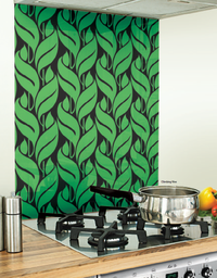 Image Kitchen Green Glass Splashback