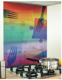 Image Kitchen glass Splashback