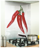 Chilli Image Kitchen White glass Splashback