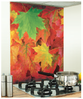 Leaf Image Kitchen red glass Splashback