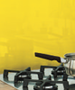 Yellow Kitchen Glass Splashback