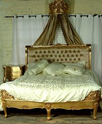 Gold French Bed - 4'6 Double
