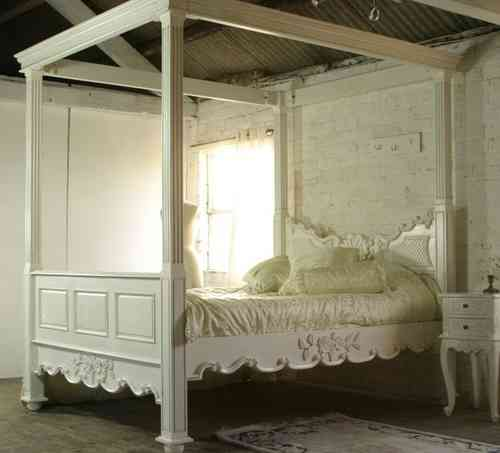 Cream Four poster French Bed