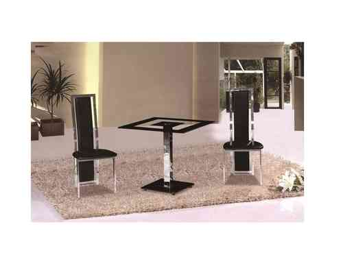 Holly Square Glass Dining Table and Chairs