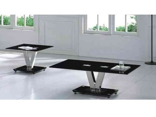 Holly V Black Glass Coffee Table