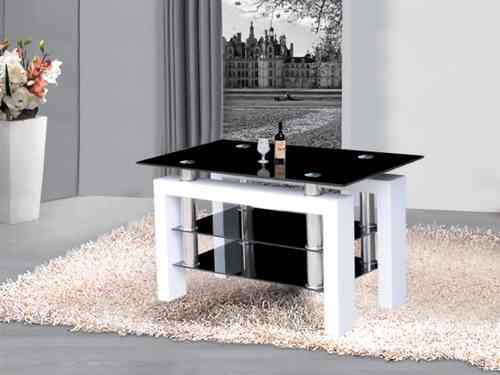 Metro high gloss black and white glass tv stand unit